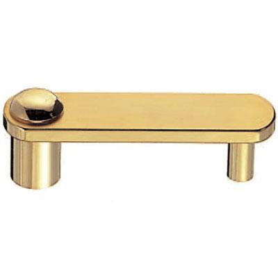 真鍮 ミラノハンドル 小 純金 1箱10本価格 ※メーカー取寄品 シロクマ HB-54