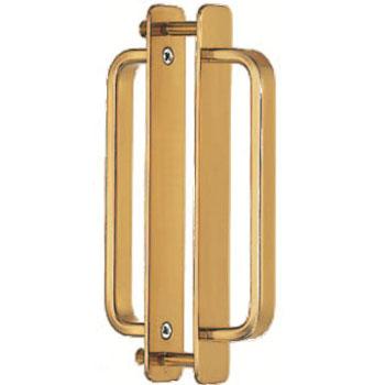 真鍮 角形座付取手(両面用)大 金 1箱5組価格 ※メーカー取寄品 シロクマ DB-4