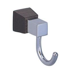 ラックスフック クローム・黒ウッド 1箱10個価格 ※メーカー取寄品 シロクマ CW-5