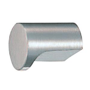 真鍮 円筒ツマミ 20mm径 ホワイト 1箱30個価格 ※メーカー取寄品 シロクマ KB-1
