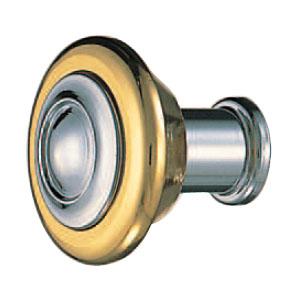 真鍮 コーラスツマミ 純金・クローム 1箱20個価格 ※メーカー取寄品 シロクマ KB-100