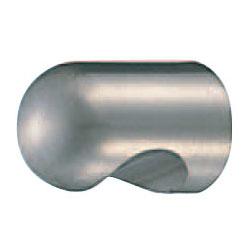 真鍮 キャノンツマミ 22mm径 ホワイト 1箱30個価格 ※メーカー取寄品 シロクマ KB-3