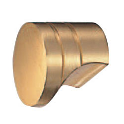 真鍮 マルセルツマミ 小 サテンゴールド 1箱30個価格 ※メーカー取寄品 シロクマ KB-11