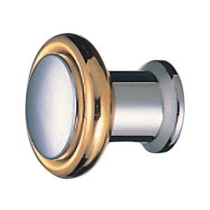真鍮 シャモニツマミ 30mm クローム純金 1箱20個価格 ※メーカー取寄品 シロクマ KB-50
