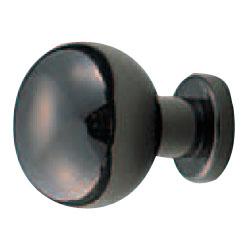 真鍮 アストリアツマミ 25mm 黒ニッケル 1箱30個価格 ※メーカー取寄品 シロクマ KB-52