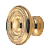 真鍮 ロワイヤルツマミ 小 純金 1箱30個価格 ※メーカー取寄品 シロクマ KB-53