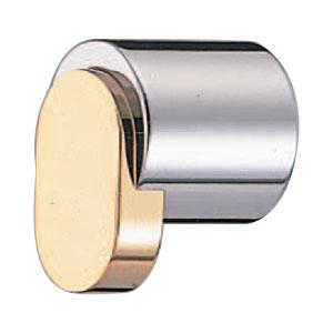 真鍮 ジュネーブツマミ クローム純金 1箱20個価格 ※メーカー取寄品 シロクマ KB-54