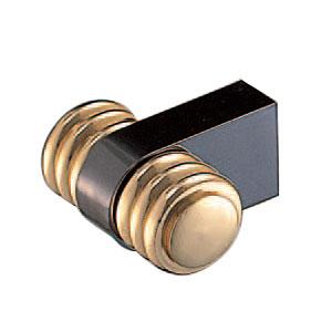 真鍮 マルシェツマミ ブラック純金 1箱20個価格 ※メーカー取寄品 シロクマ KB-70