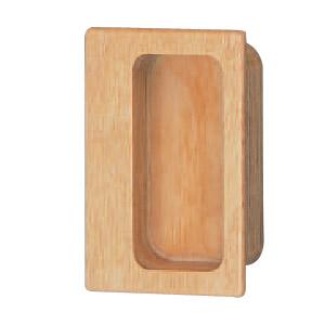 ウッド 長角手掛 75 白木ウッド 1箱20個価格 ※メーカー取寄品 シロクマ MW-11