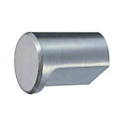 ダイカスト 円筒ツマミ 15mm径 ホワイト 1箱50個価格 ※メーカー取寄品 シロクマ KZ-1