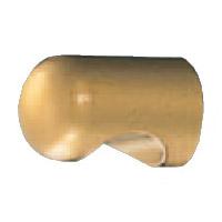 ダイカスト キャノンツマミ裏ビス 20mm径 ゴールド 1箱40個価格 ※メーカー取寄品 シロクマ KZ-3B