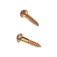 真鍮丸頭(+)木ネジ 2.1×10 真鍮色 1kg(約3000本) ※メーカー取寄品 シロクマ LB-100