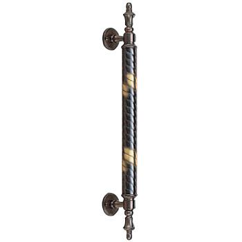 真鍮 ラセン取手 大 金 1本価格 ※メーカー取寄品 シロクマ NO-23