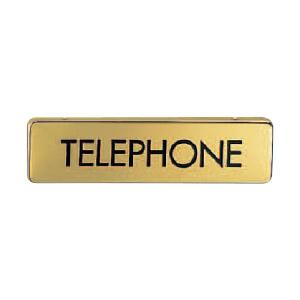 サイン 真鍮 TELEPHONE クローム 1箱5枚価格 ※メーカー取寄品 シロクマ NB-4-10