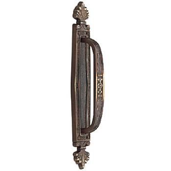 真鍮 スパニッシュ座付取手 古代色 1本価格 ※メーカー取寄品 シロクマ NO-12