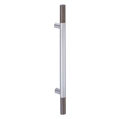 シロクマ 丸棒取手 700mm HLヘアライン・ダークブラウン 1組価格 ※メーカー取寄品 NO-189