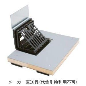 カネソウ 鋳鉄製ルーフドレイン よこ引き用 屋根断熱材厚さ50mm用(呼称125) ※メーカー直送代引不可 EXC-6D-125-40