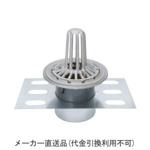 カネソウ ステンレス鋳鋼製ルーフドレイン たて引き用 デッキプレート打込型 屋上用(呼称100) ※メーカー直送代引不可 EDSSP-1-100
