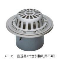 ステンレス鋳鋼製ルーフドレイン たて引き用 打込型 バルコニー 庇・屋上用(呼称100) ※メーカー直送代引不可 カネソウ ESSR-1-100