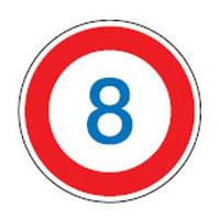 日本緑十字社 路面道路標識 路面-323-8 101105