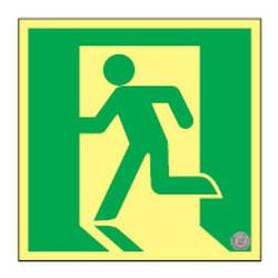 日本緑十字社 高輝度蓄光避難口誘導標識 ASN860 377860