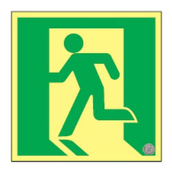 高輝度蓄光避難口誘導標識 ASN815 日本緑十字社 377815