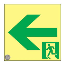 日本緑十字社 高輝度蓄光通路誘導標識 ASN952 377952