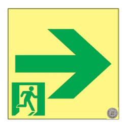 日本緑十字社 高輝度蓄光通路誘導標識 SSN961 364961