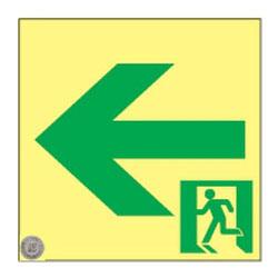 日本緑十字社 高輝度蓄光通路誘導標識 SSN952 ※メーカー直送品 364952
