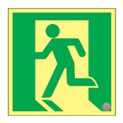 日本緑十字社 高輝度蓄光避難口誘導標識 SSN815 ※メーカー直送品 364815