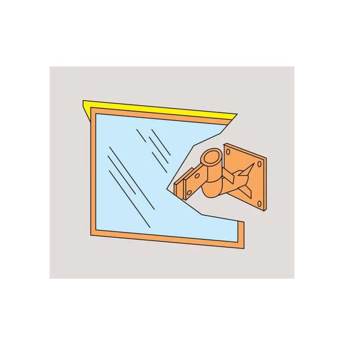 日本緑十字社 壁付カーブミラー 壁角S56 ※受注生産・メーカー直送品 277210