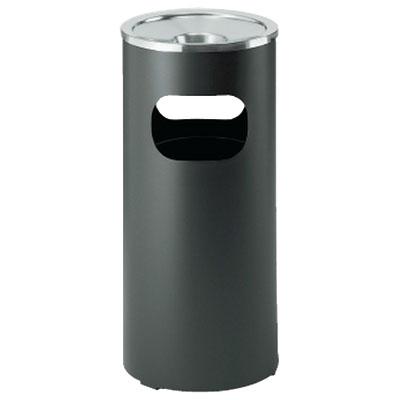 吸い殼人れ 282mm径×603mm 黒 ※受注生産品 日本緑十字社 290008