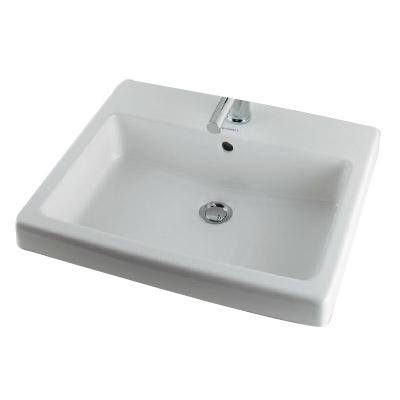 カクダイ 角型洗面器 1ホール W510×D410mm ※メーカー直送品 #DU-0315550000