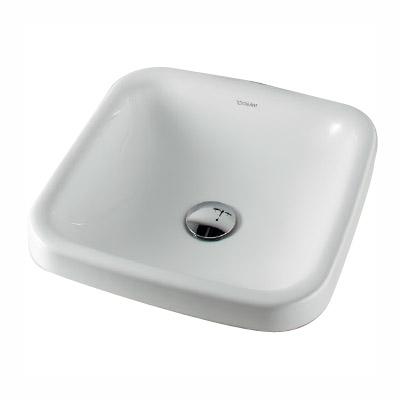 カクダイ 角型洗面器 W370×D370mm(角R85) #DU-0372430000