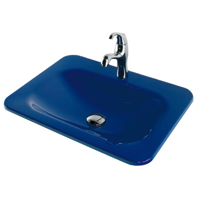 カクダイ 角型洗面器 ロイヤルブルー ※メーカー直送品 #MR-493220B