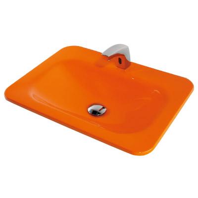 カクダイ 角型洗面器 ゴールデンオレンジ ※メーカー直送品 #MR-493220Y
