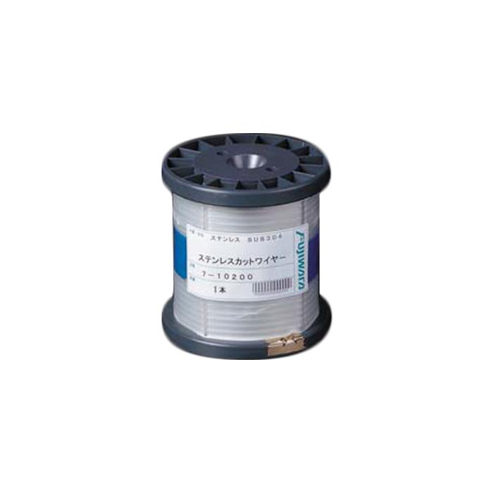フジワラ ステンレスカットワイヤロープ 7×7 4.0mm×200m 7-40200