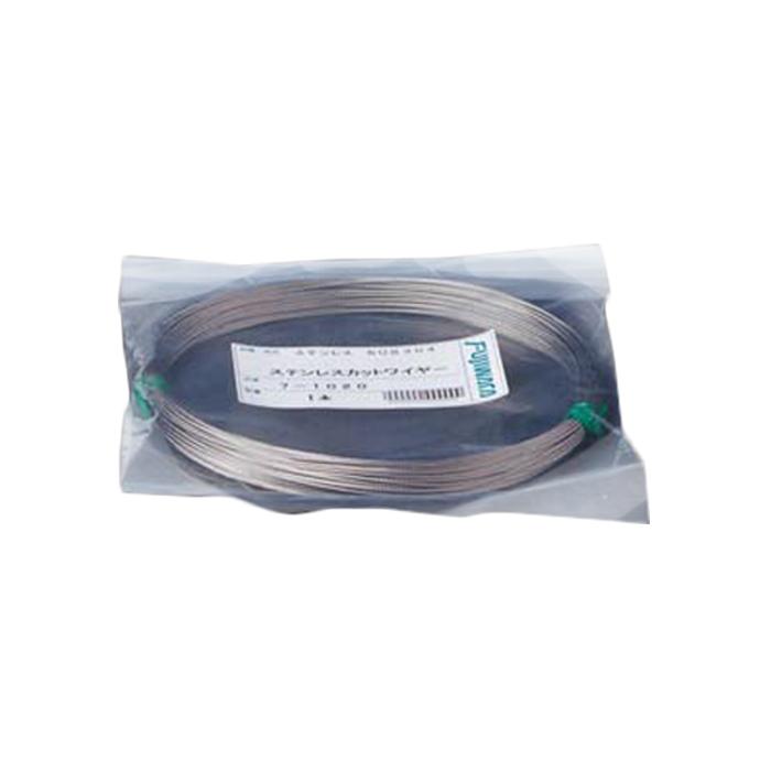 フジワラ ステンレスカットワイヤロープ 7×7 5.0mm×100m 7-50100