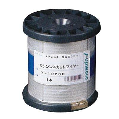 フジワラ ステンレスカットワイヤロープ 7×7 6.0mm×100m 7-60100