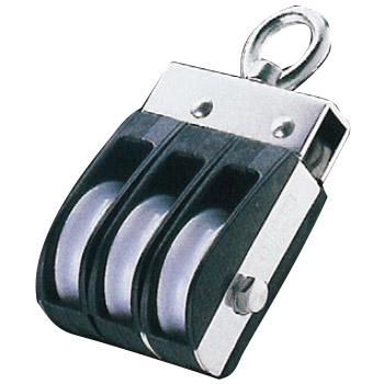 フジワラ Aブロック オーフ頭 回転式 車径40mm 4車 車幅11mm ※特注品 AD-404