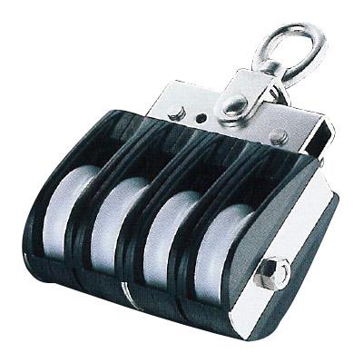 フジワラ Aブロック オーフ頭 回転式 車径50mm 3車 車幅14mm ※特注品 AD-503