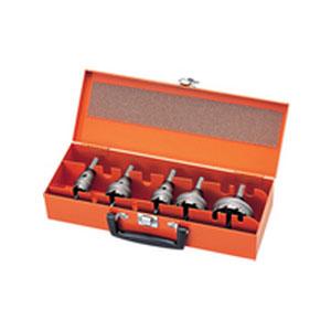 ユニカ 超硬ホールソー メタコア ツールボックスセット 口径22mm・28mm・30mm・32mm・38mm・50mm TB-04