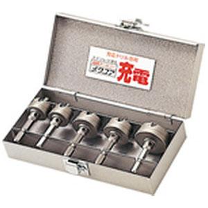 ユニカ 超硬ホールソー メタコア充電 ツールボックスセット 口径22mm・22mm・28mm・28mm・35mm TB-23