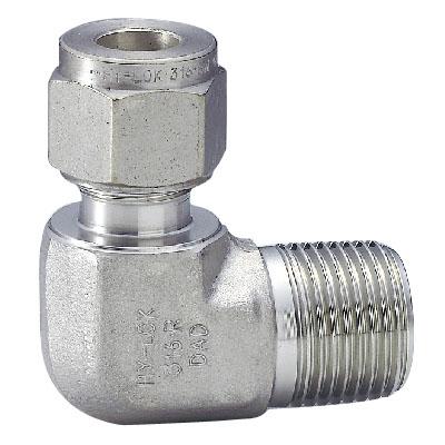 ハイロック社 ハイロック チューブ継手 ハーフエルボ チューブ外径 25 ネジR(PT)1 CLMA25M-16R