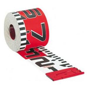 タジマ シムロンロッド 軽巻 スタンド付テープロッド 100mm×30m 裏面1m赤白 KM10-30K