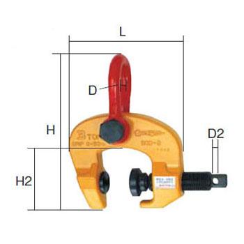 SUPER TOOL スクリューカムクランプ(万能型)3.0トン (クランプ範囲:3~50mm) SCC-3