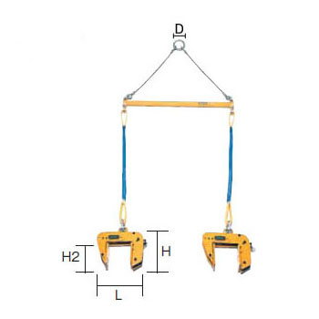 SUPER TOOL 型枠・パネル吊 天秤セット 0.20トン (クランプ範囲:5~80mm) PTC-100S