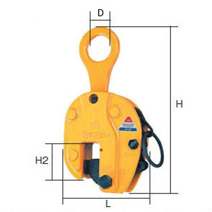 SUPER TOOL 立吊クランプ(ロックハンドル式)ワイドタイプ 1.0トン (クランプ範囲:1~40mm) SVC-1WH