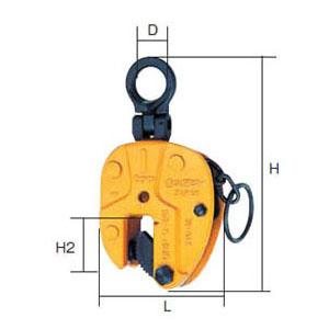SUPER TOOL 立吊クランプ(ロックハンドル式・自在シャックルタイプ)0.3トン SVC-0.3E
