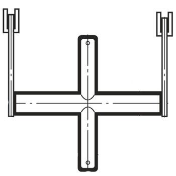 ブラケットクロスバーシングル25径600mm Aニッケルサテン BXS-25S-2525 ロイヤル BXS-25S-2525